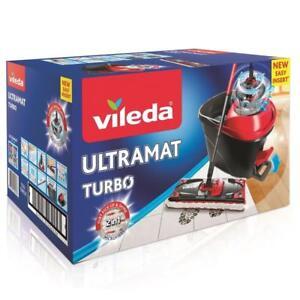 Vileda-UltraMat-Turbo-Eimer-Bodenwischer-Easy-Wring-Komplettset-NEU