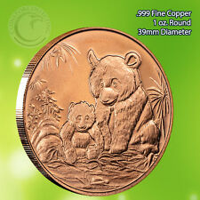 Panda Round 1oz .999 Copper Round