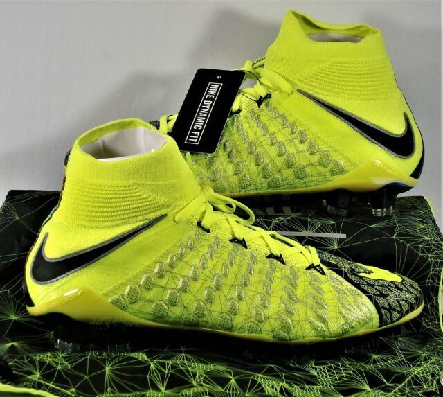 official photos 0a9b7 c888e Nike Hypervenom Phantom 3 DF SE FG EA Sports Flyknit ACC Sz 12 882008-700  /3000