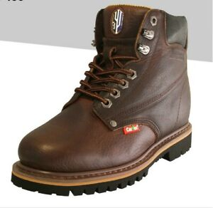 5bb9a231 Details about Cactus Work Boots 627 Dark Brown Real Leather 6