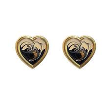 Art Studio Earrings, Clip-On Abstract Design Earrings for Women, Heart Shape