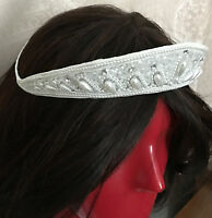 Wedding White Pearls Beads Pretty Tiara Crown Comb Prom Pageant Wedding 2