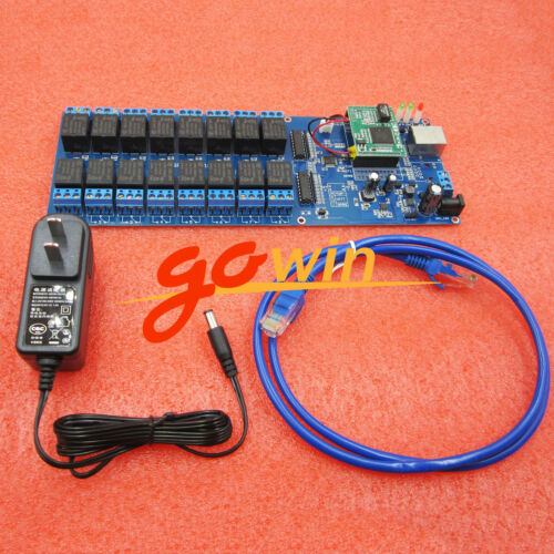 USR-R16-T Industrial Ethernet Relay 16 Channel Output Relay TCP//IP Module L1ST