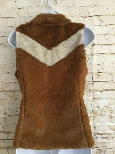 Small Los Size Patagonia Stripe Rara Camel Gatos Vest Womens Fleece Lined B6OqwzT