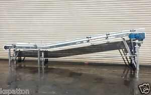 2013-Spantech-8-5-x-16-Long-SS-Food-Grade-Incline-Conveyor-Conveying