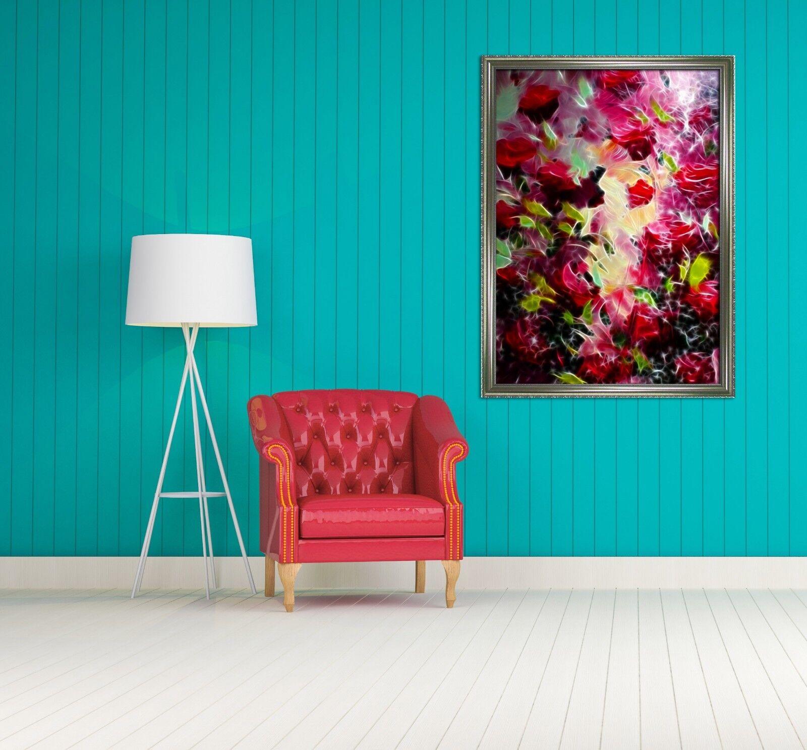 3D Póster Enmarcado abstracta cártamo 69 Decoración del Hogar Pintura de Impresión Arte AJ