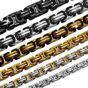 1x-Panzerkette-Koenigskette-Halskette-Herren-Men-Massiv-Biker-Gliederkette-XXL