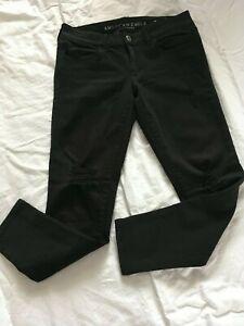 American-Eagle-Jeggings-Women-039-s-Size-6-Short-Black-Super-Stretch-X-Distressed
