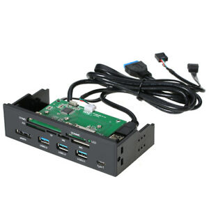 5-25-034-inch-Internal-Card-Reader-Media-Dashboard-PC-Front-Panel-Type-C-USB3-1-U3L2