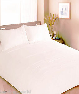 Double Bed Hilton Cream Duvet Cover Set Pale Yellow Satin