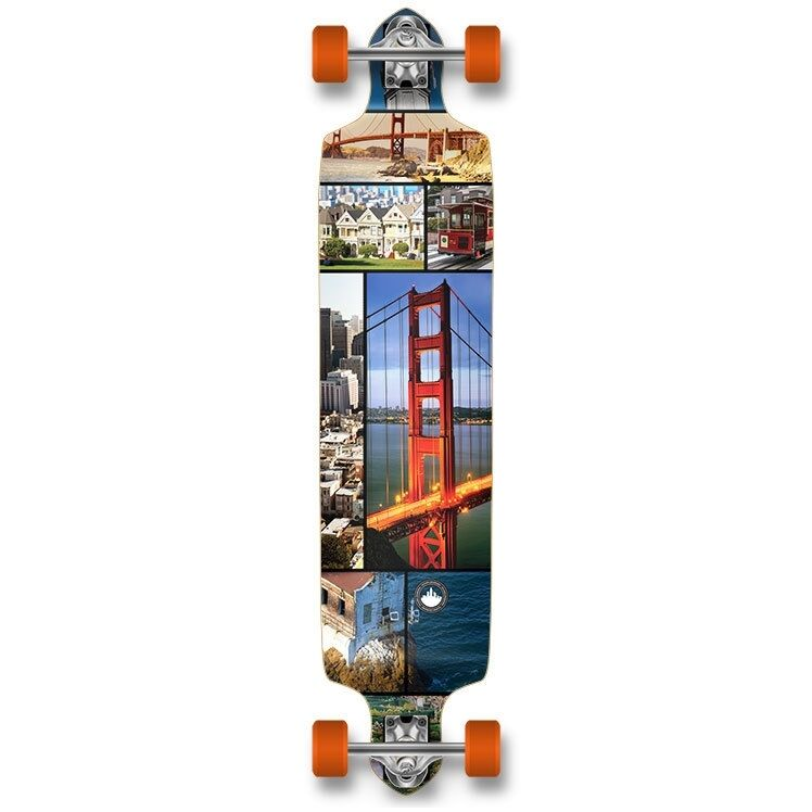 Yocaher Drop Down San Francisco Longboard Complete