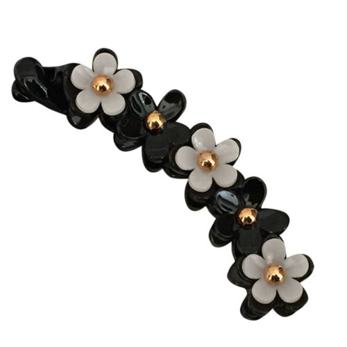 Barrette Flower Decor Banana Hair Clip Toothed Ponytail Holder Hair Claw