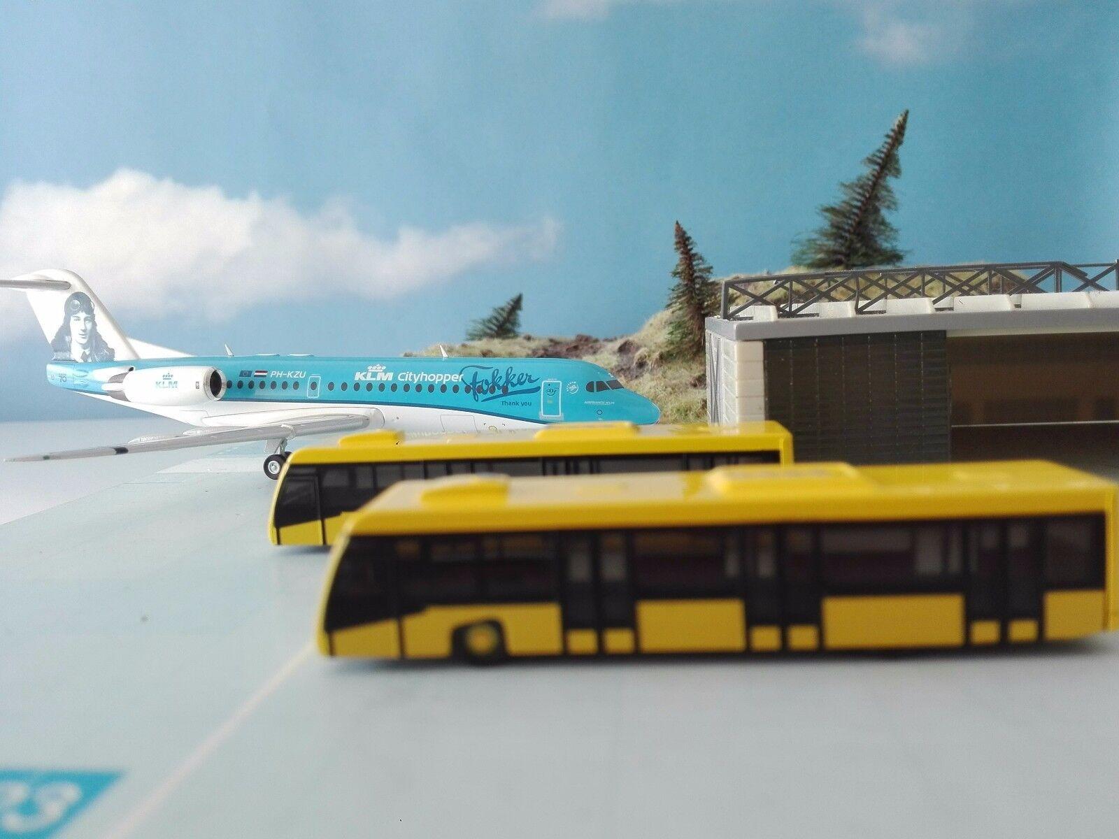 Herpa Herpa Herpa Wings 1 200 artículo nuevo 558631 scenix-Airport autobús set - 2er set * ce31e3