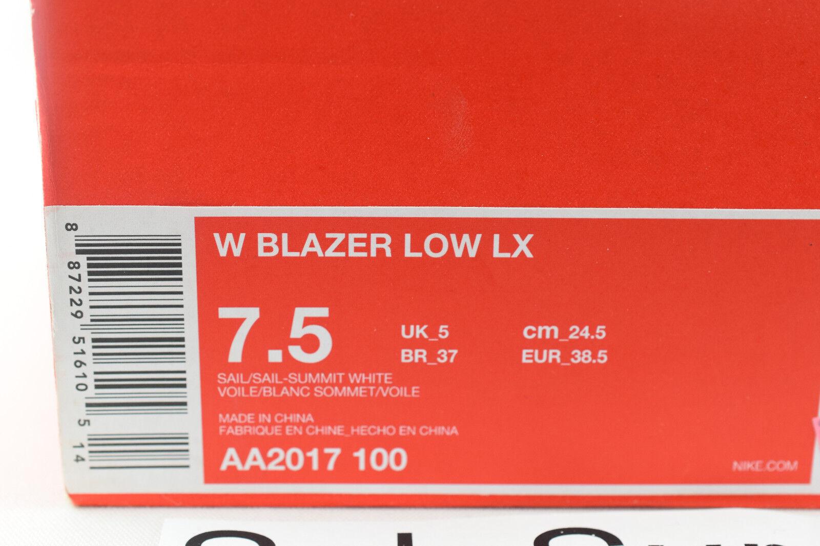 Women's Nike Blazer Low Lux - - - SIZE 7.5 - AA2017-100 LX Triple Whiteout Velvet 9eebea