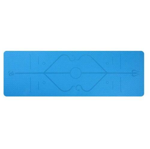 Premium Yoga Mat TPE 6MM Cork Natural Rubber Nonslip Pilate Pad Exercise Fitness