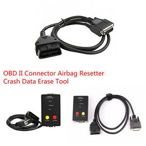 OBD OBDII Connector Airbag Reset Tool Crash Data Erase Tool