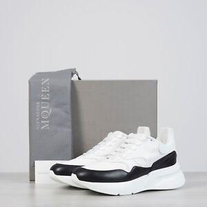 ALEXANDER-MCQUEEN-790-Oversized-Runner-Sneakers-In-Optic-White-amp-Black-Leather
