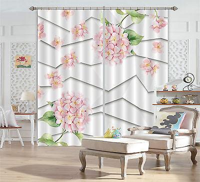 3d Blumen Polylines Blockade Foto Vorhang Druckvorhang Vorhänge Stoff Fenster De