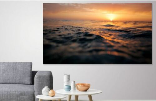 oceansurfacesunsetwaves WALL ARTS high quality Canvas home decor