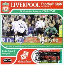 Liverpool 2001-02 Derby County (Jerzy Dudek) Football Stamp Victory Card #116