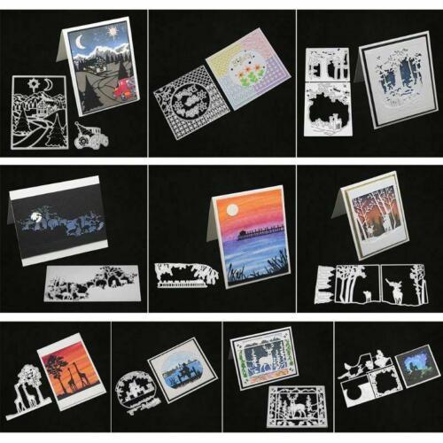 Deer Metal Corte muere Tarjetas de papel gofrado stencil Scrapbooking Manualidades Hágalo usted mismo