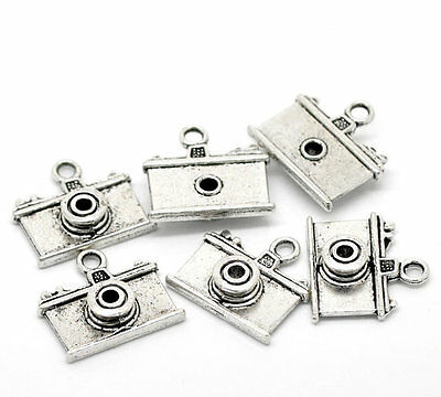 2 pcs CAMERA Tibet silver Charms Pendants DIY Jewellery Making
