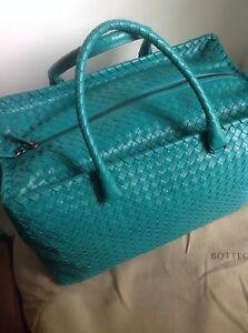 Image is loading New-100AUTH-Bottega-Veneta-Lake-Green-Woven-Leather- 6acc4099e2a5a