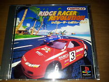 RIDGE RACER REVOLUTION SONY D  PLAYSTATION VIDEOGAMES PS JAP JAPANESE PSX PS1