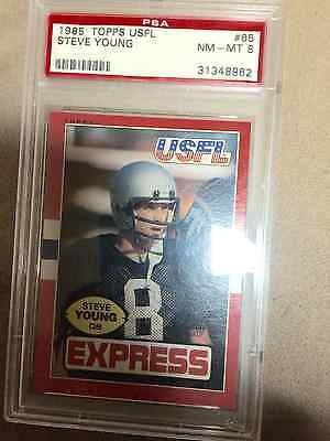 STEVE YOUNG 1985 USFL RARE #65 PSA 8 GRADED