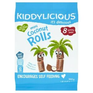 Kiddylicious Coconut Rolls 8 pack