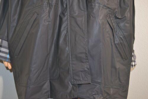 Pvc Raincoat con large Black nylon Totes L cappuccio in Donna Taglia Vintage Plaid AOq0wC5