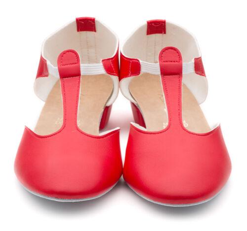 Damen Mädchen Rot PU Tanz Griechische Sandalen Lehren Ballsaal Übung Schuhe Von
