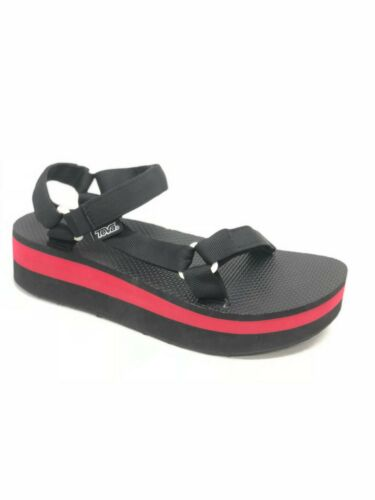 Teva Women/'s Flatform Universal Platform Sandals Black Red 1008844