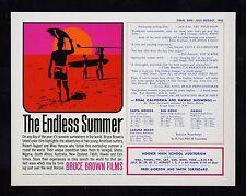 ENDLESS SUMMER CineMasterpieces BEACH OCEAN SURF SURFING MOVIE POSTER '65 SURFER