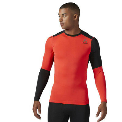 Reebok Men's ACTIVCHILL Long Sleeve Compression Training CrossFit Shirt BQ3448 | eBay
