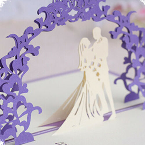 3D PopUp Greeting Card Birthday Party Anniversary Wedding Decor Blessing CRKCAXI