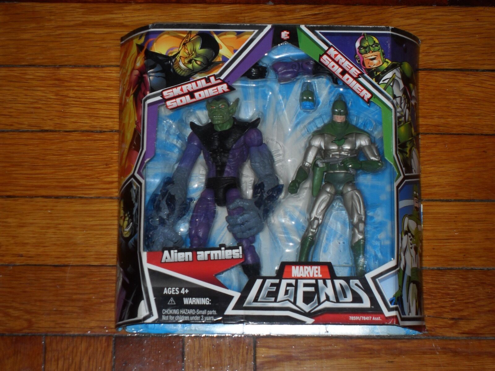 Marvel Legends Skrull Soldier & Kree Soldier 6in. 6in. 6in. Action Figures 51b65a
