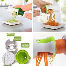 Vegetable Spiral Slicer Cutter Chopper Handheld 2-Blade Compact Kitchen Tool