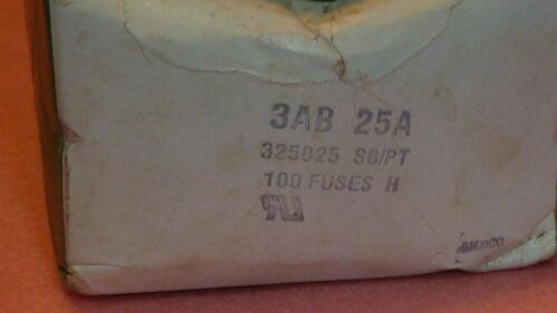NEW 5PCS LITTELFUSE 3AB 25A Ceramic FUSE 25A 125V 325025 SB//PT 6.3x32