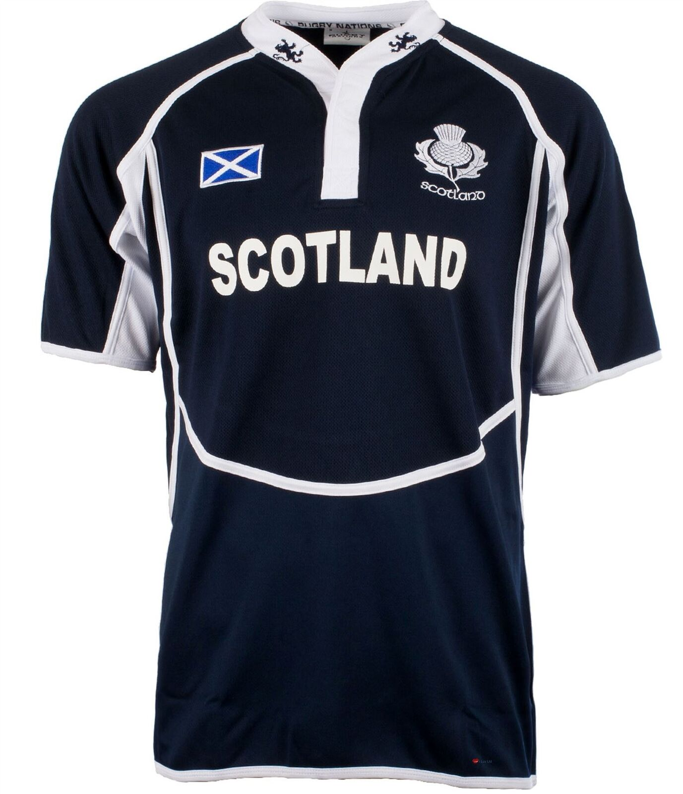 Gents Cooldry Style Rugby Shirt In Scotland Colours Size X-Small