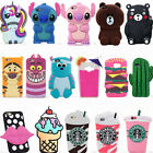 3D Cool Cute Animals Cartoon Soft Silicone Case Covers For Samsung Galaxy Phones