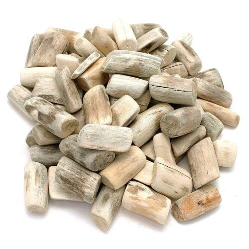 """natur gebürstet 1kg Beutel Treibholz rund /""""Tumblet wood/"""" L3-7cm"""