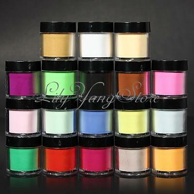 12/18/24 Colors Glitter Powder Dust Nail Art Acrylic UV Gel Decoration Tips Set