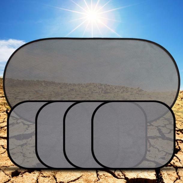 5X Car Window Suction Cup Sun Visor Shade Curtain Mesh Sunshade Cover Side Carry