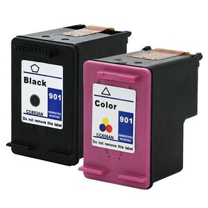 2PKs-HP-901-Ink-Cartridge-for-HP-Officejet-J4500-J4524-J4540-J4550-J4580-J4624