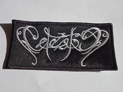 CELESTIA EMBROIDERED LOGO BLACK METAL PATCH