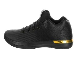a28332f27a6678 Nike Air Jordan XXXI Low BG 897562-023 Black Gold Boys Basketball ...
