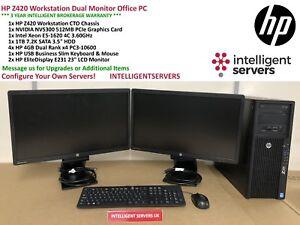 Details about HP Z420 Workstation Intel E5-1620 3 6GHz 16GB 1TB 7 2K SATA  Quadro Nvidia 300