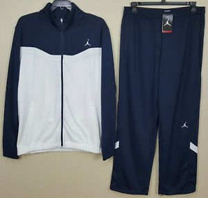 Details about NIKE JORDAN DRI FIT BASKETBALL SUIT JACKET + PANTS NAVY BLUE RARE (XLT LARGE)