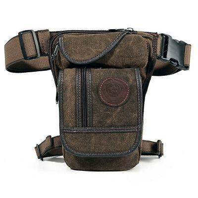 Hombres Bolso Canvas Cintura Riñonera Táctica Militar Motocicleta Cinturón Bag